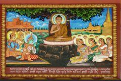 Kambodscha - Angkor Watt -Gemälde im Kloster