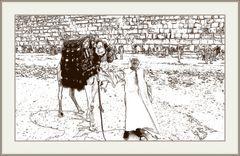 Kamelführer - Gizeh - Zeichnung eines Fotos