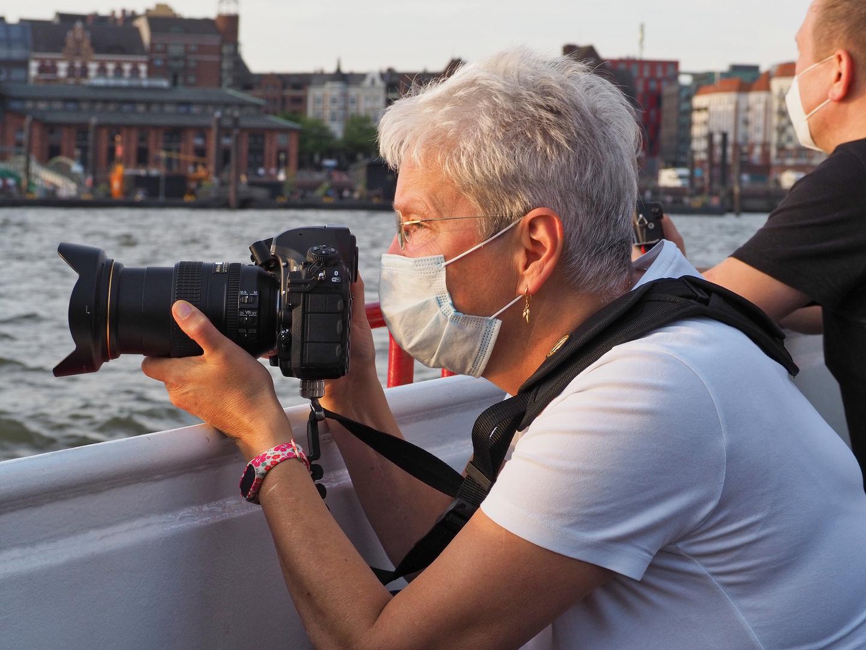 Kamera-Frau