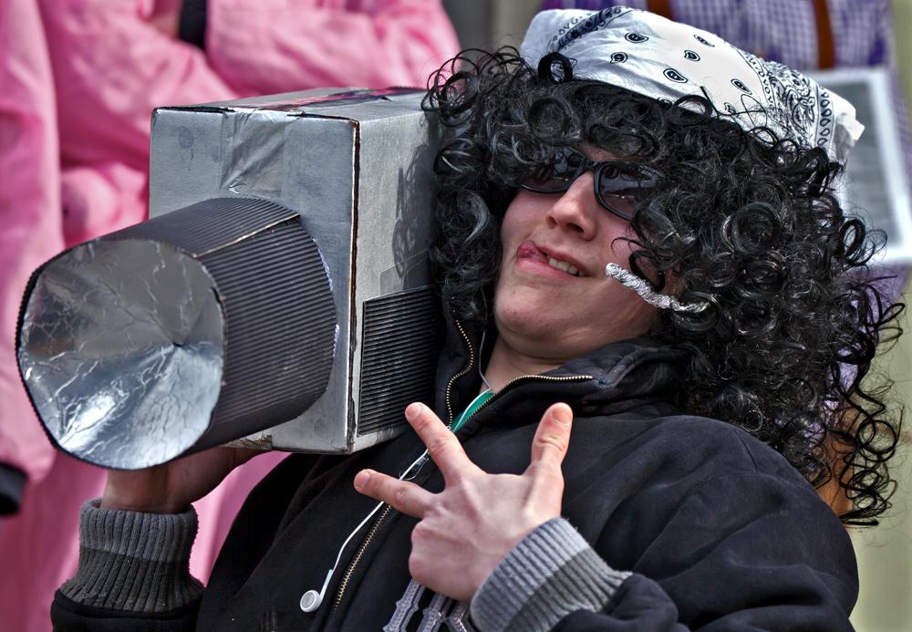 Kameramann im Gratweiner Faschingsumzug!