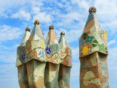 Kamine auf der Casa Batlló