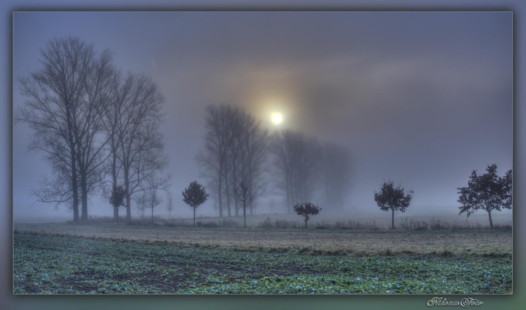 Kampf der Sonne mit dem Nebel