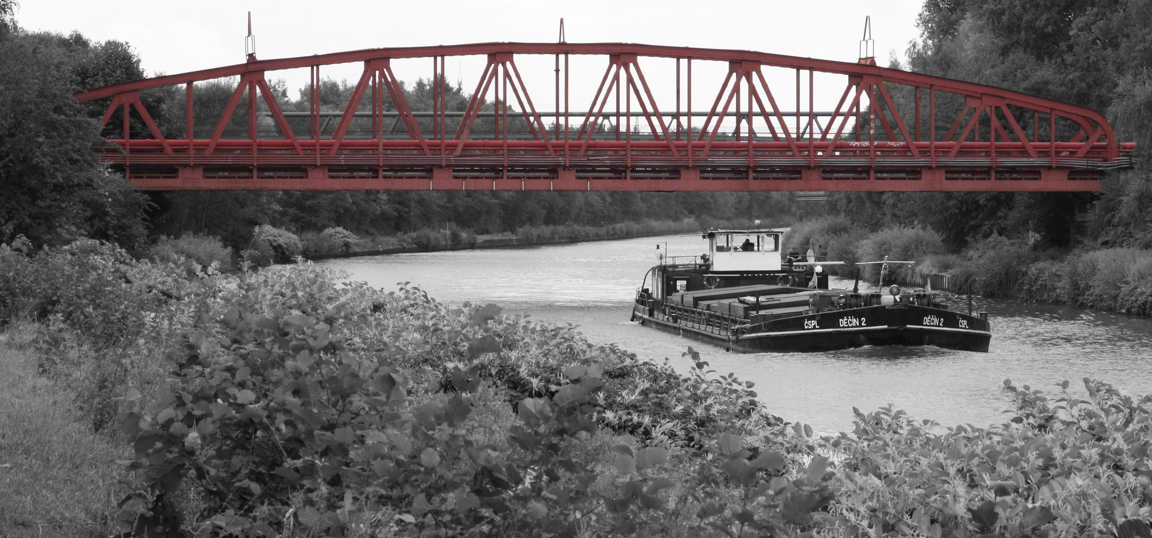 Kanalbrücke am Rhein Herne Kanal, nähe Buga