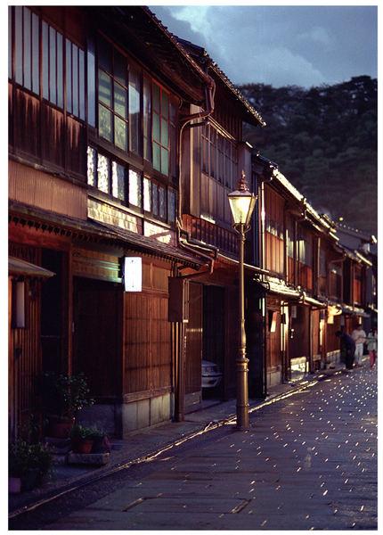 Kanazawa gegen Abend