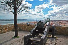 Kanone des Castelos Sao Jorge