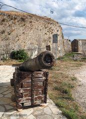Kanone vor der Festung Agias Mavra (Lefkada)