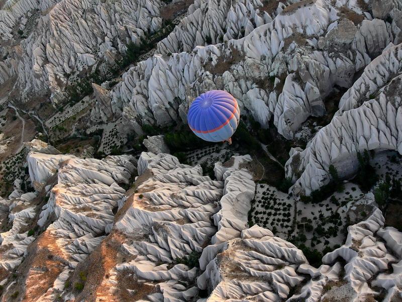 Kapadokien aus dem Heißluftballon