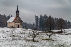 Kapelle Oberbayern im Winter