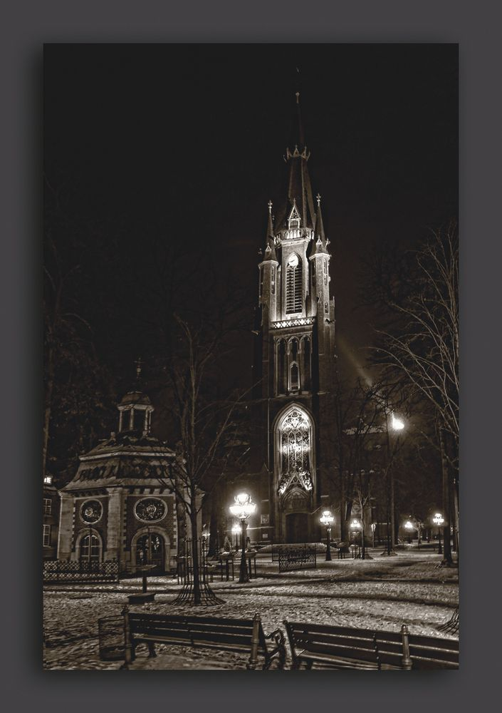 Kapellenplatz Kevelaer bei Nacht