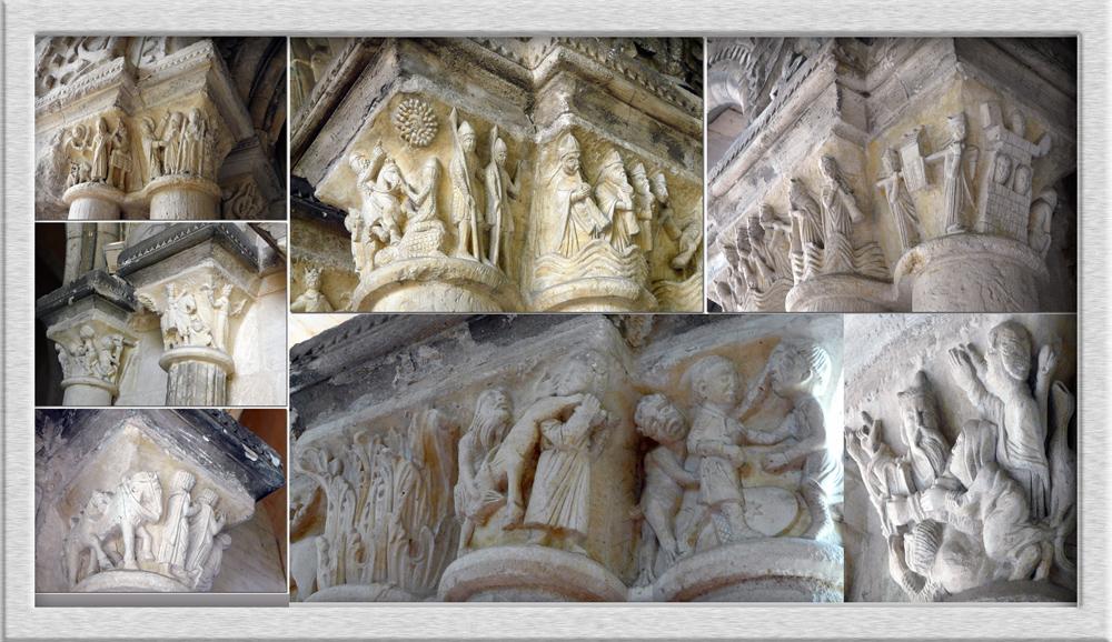 Kapitelle aus der Kirche St. Georges de Boscherville