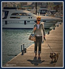 Kappeln Jachthafen, Spaziergang mit Amy