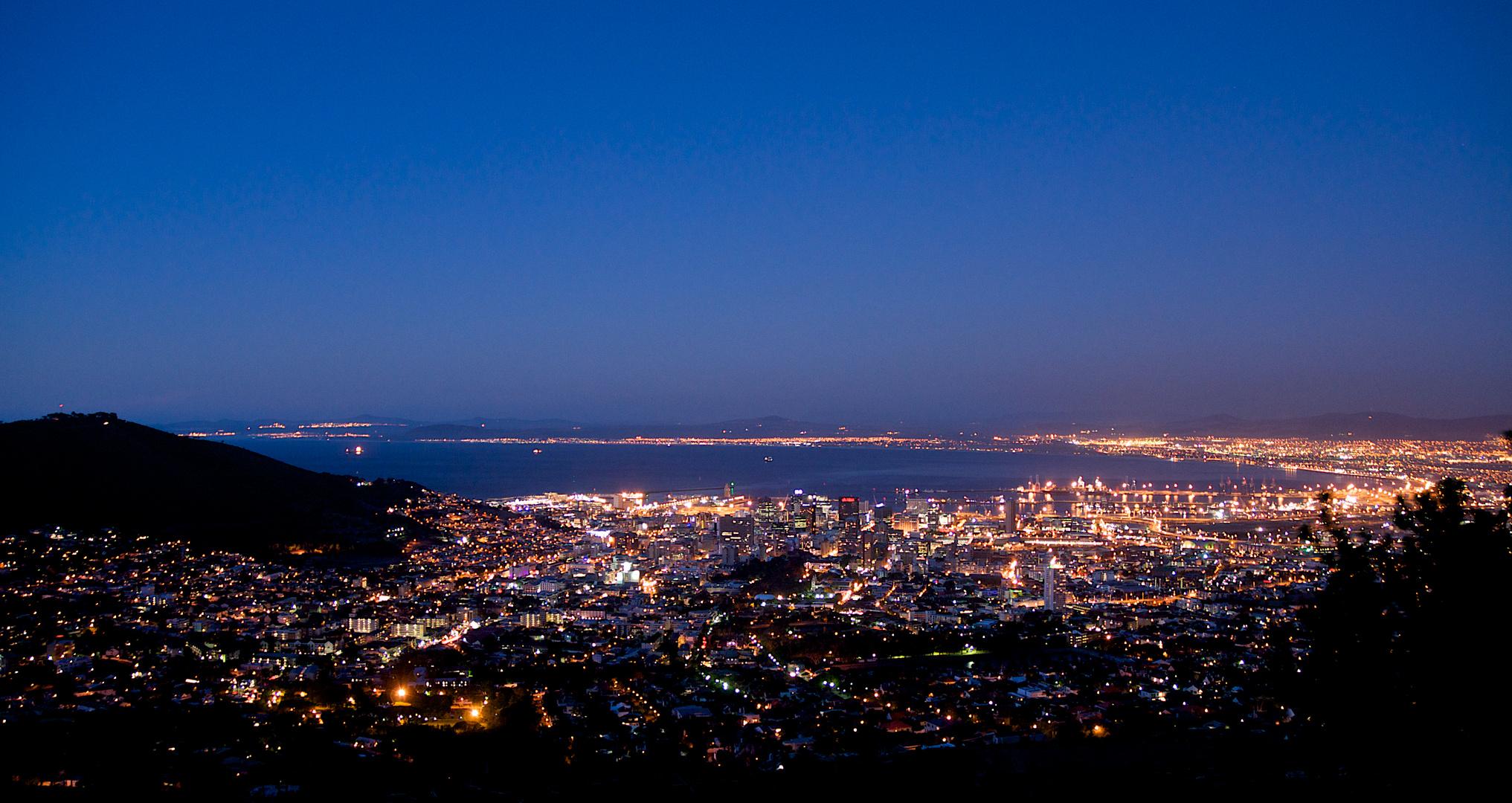 Kapstadt in der Dämmerung