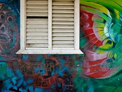 Karibik-Häuserfront