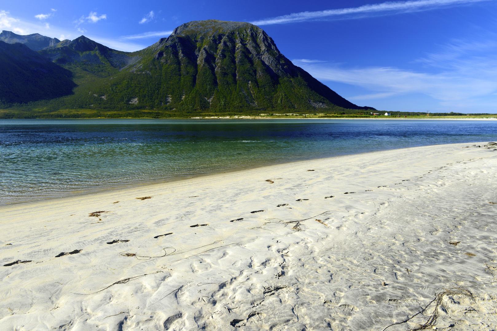 Karibischer Strand auf den Lofoten