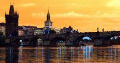 Karlsbrücke im Abendlicht