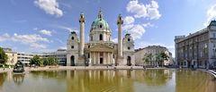 Karlskirche an einem schönen Maitag