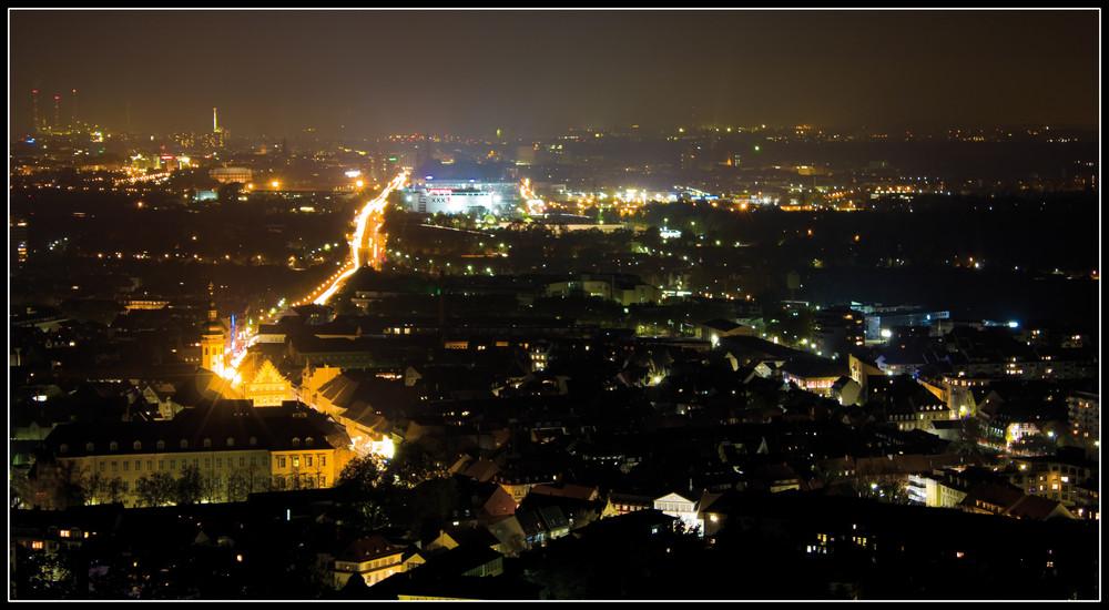 Karlsruhe bei Nacht