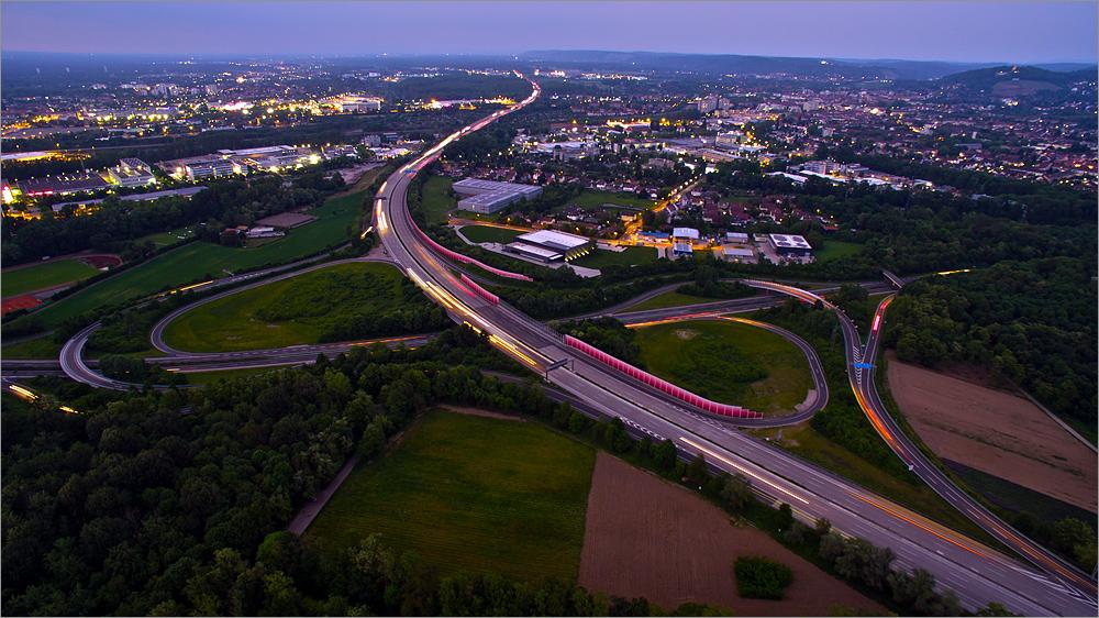 """Karlsruhe @ Night I """"Fliegendes Stativ"""""""