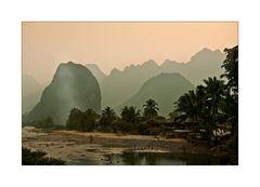 Karstberge in Vang Vieng