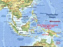 Karte Irian Jaya