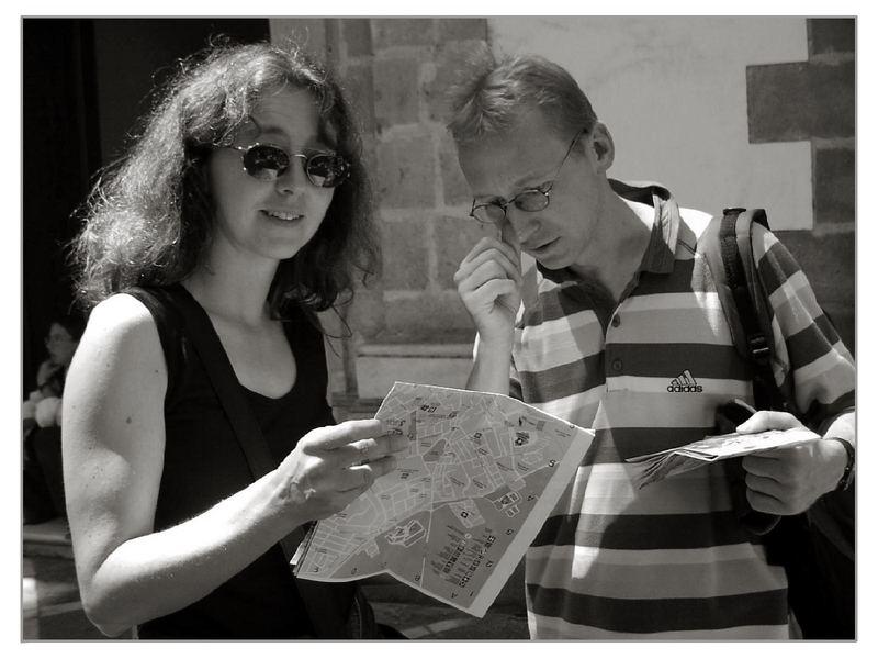 Karte lesen oder nach dem Weg fragen?