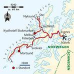 Karte Lofoten/Vesteralen