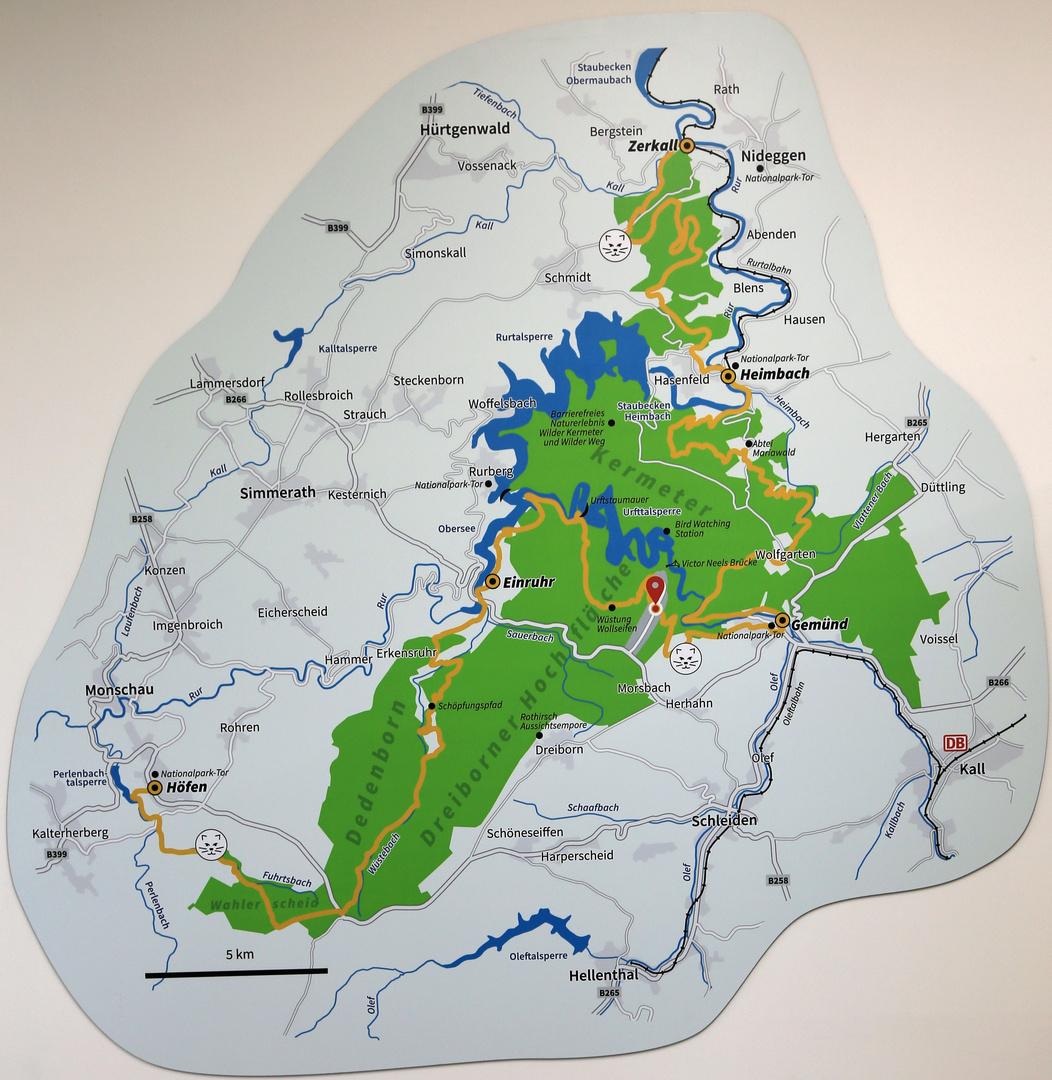 Nationalpark Eifel Karte.Karte Nationalpark Eifel Foto Bild Gedenkstätten Bilder Auf