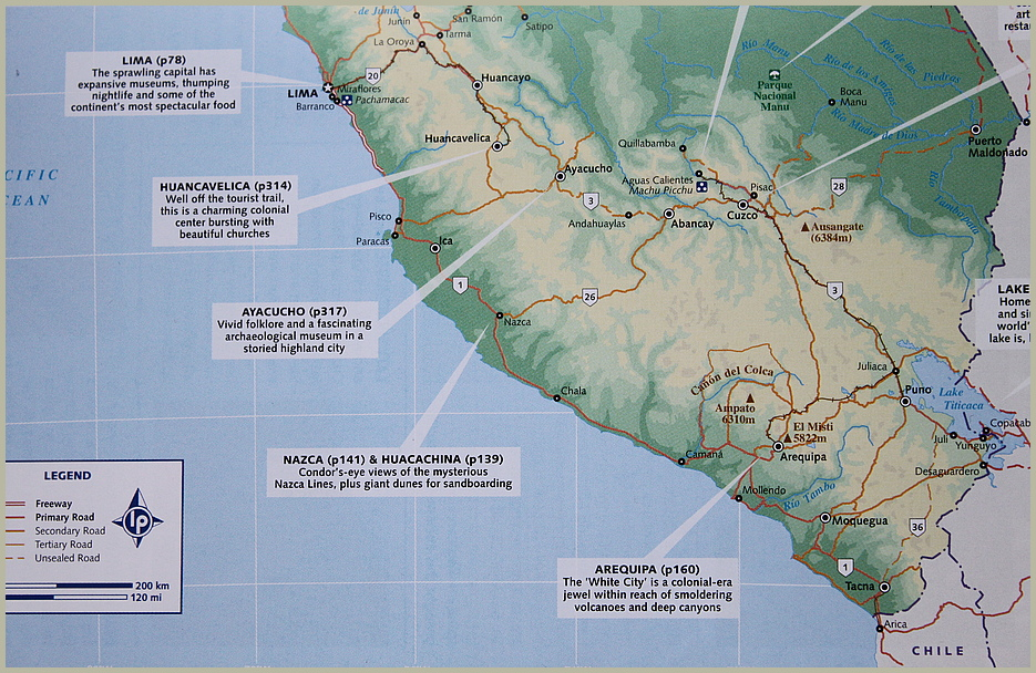KARTE PERU - Reisetagebuch PERU U888K