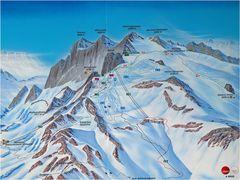 Karte zur Dachsteintour am 31.12.2008