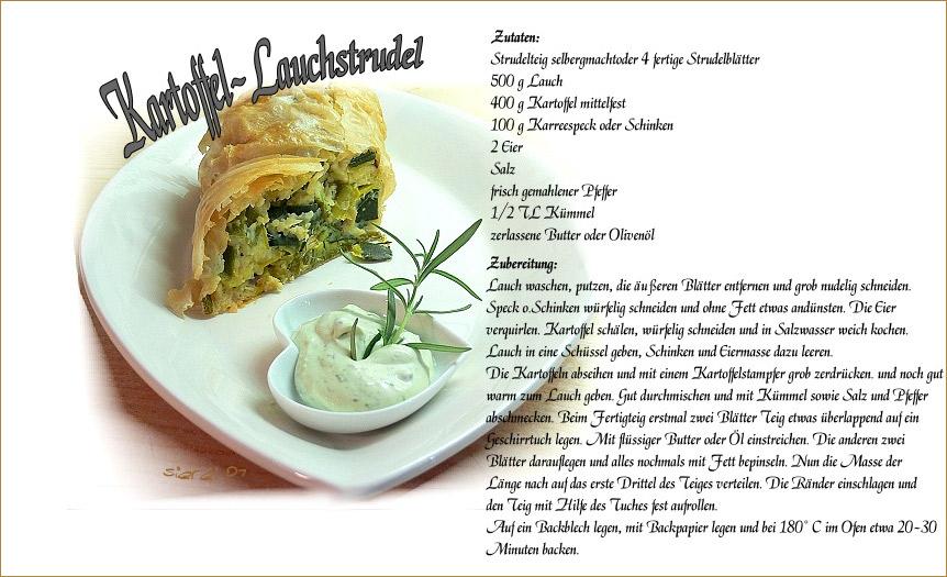 Kartoffel Lauchstrudel Foto Bild Karten Und Kalender Spezial