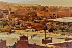 Kasbah Schlange Fluss V-2 Maroc ca-17-36-colfx +4Fotos