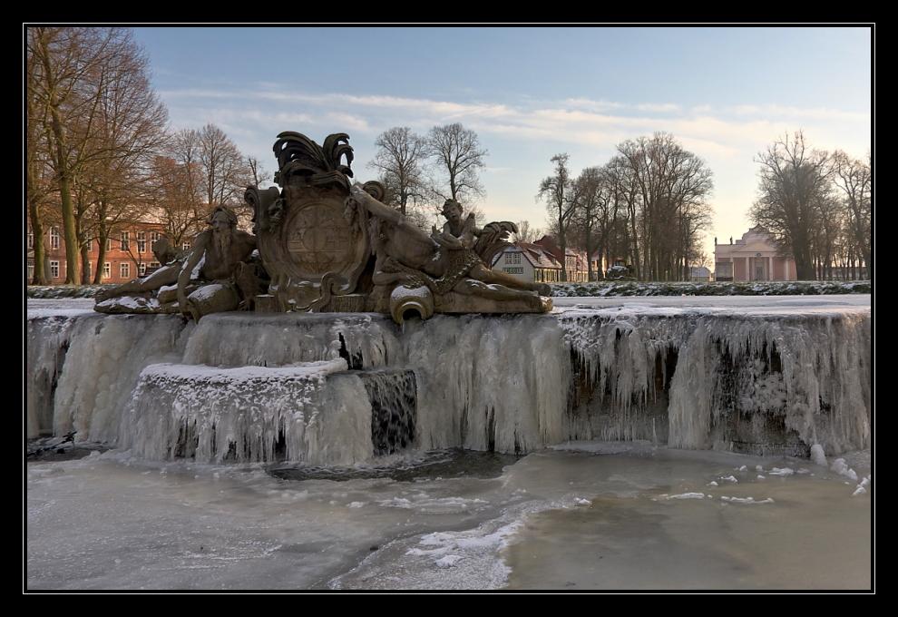 Kaskaden in Eis