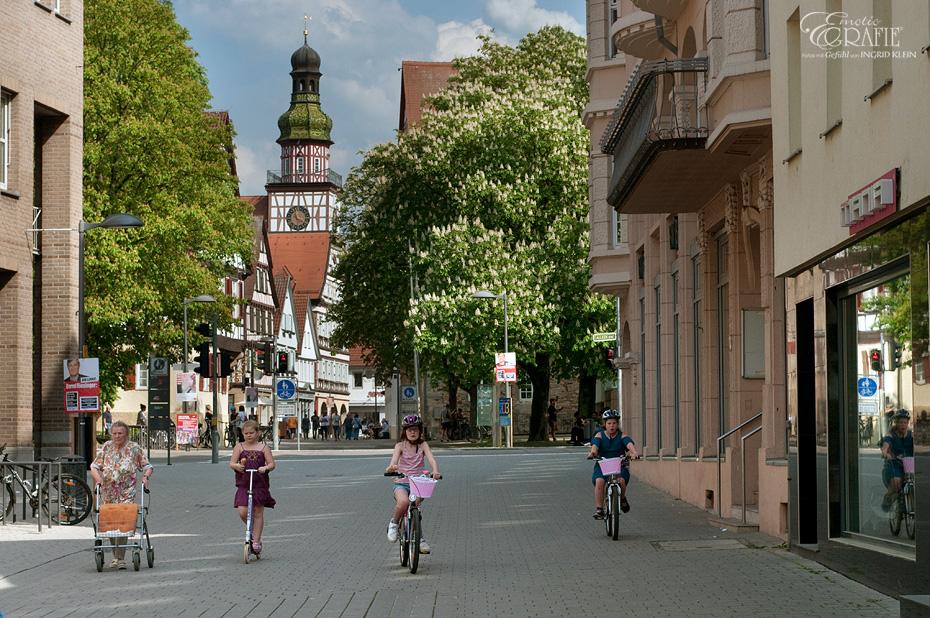 Kastanienblüte in Kirchheim-Teck