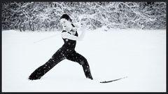 Katana im Schnee