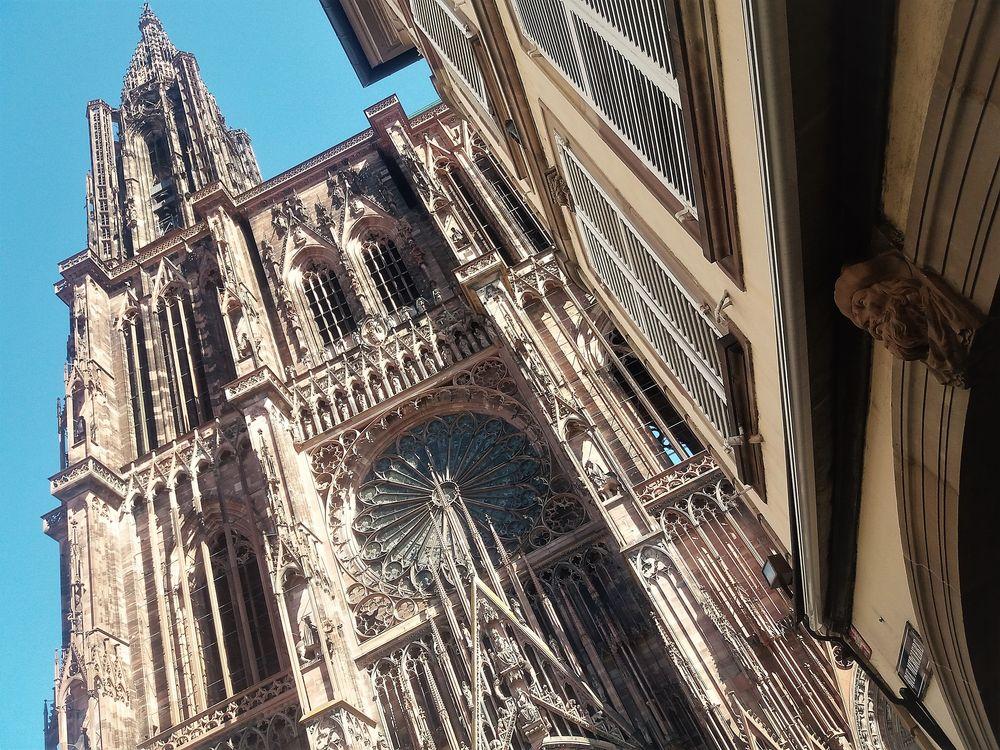 Kathedrale Strassburg Figur J5-19col +9Fotos
