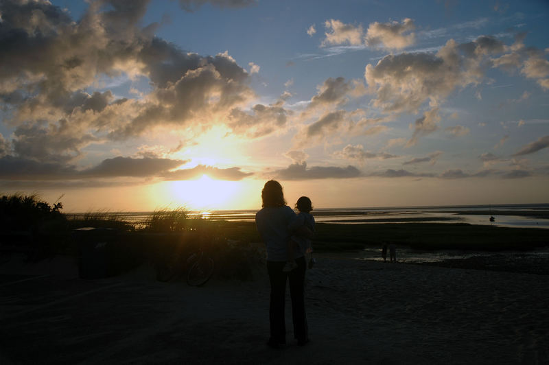 Kathy and Anna at Sunset