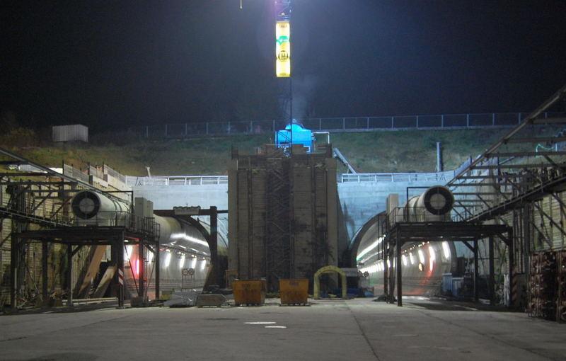 Katzenbergtunnel im Bau