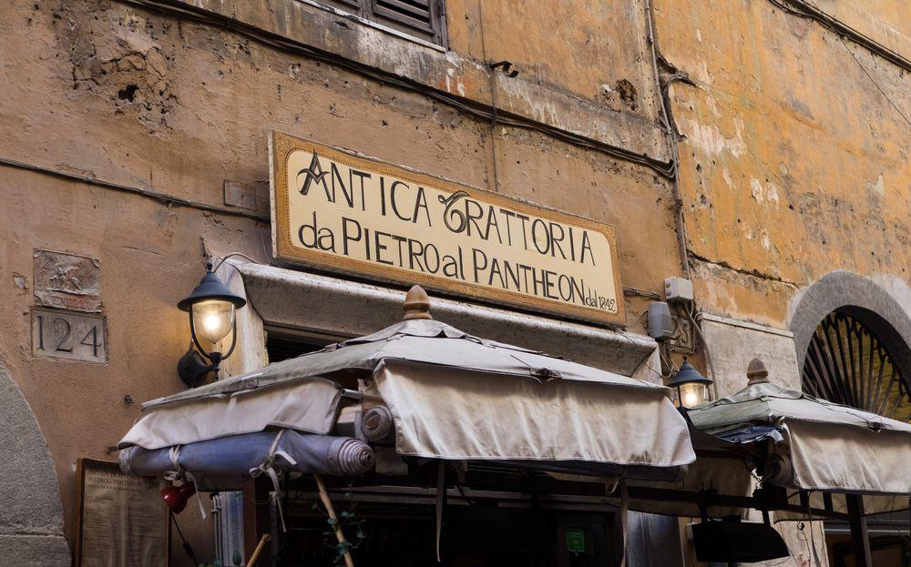 kaum zu übersehen, es hat dort aber gut geschmeckt - Rom
