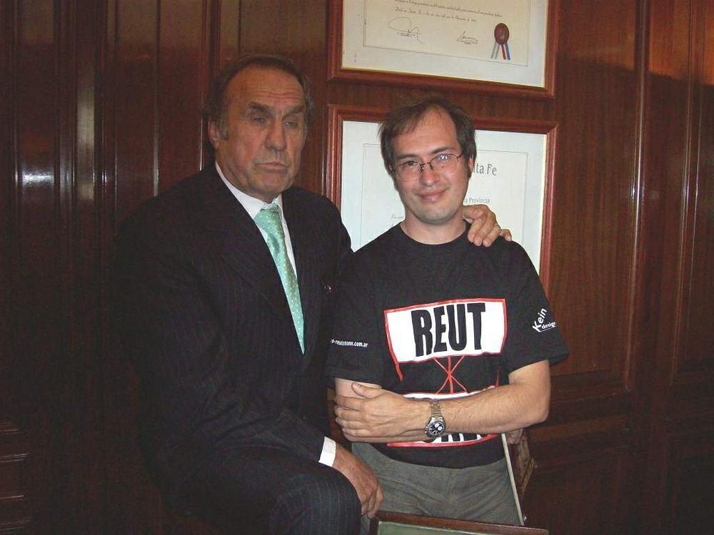 Kein Rodrigues y su idolo Carlos A Reutemann
