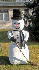 Kein Schnee mehr da, jetzt muss ich den Rasen fegen