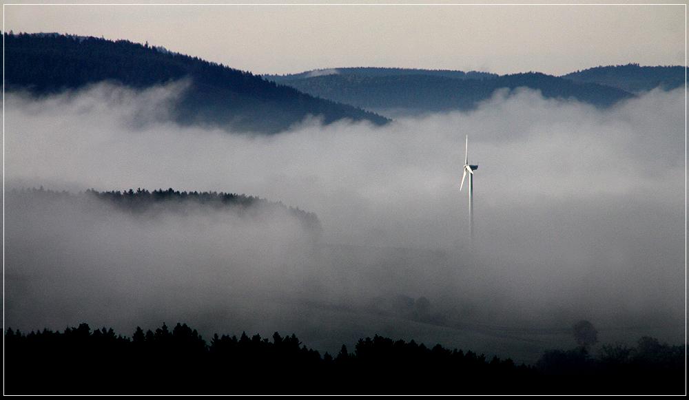 Kein Wind, dafür Nebel