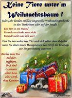 keine lebenden tiere als weihnachtsgeschenk!