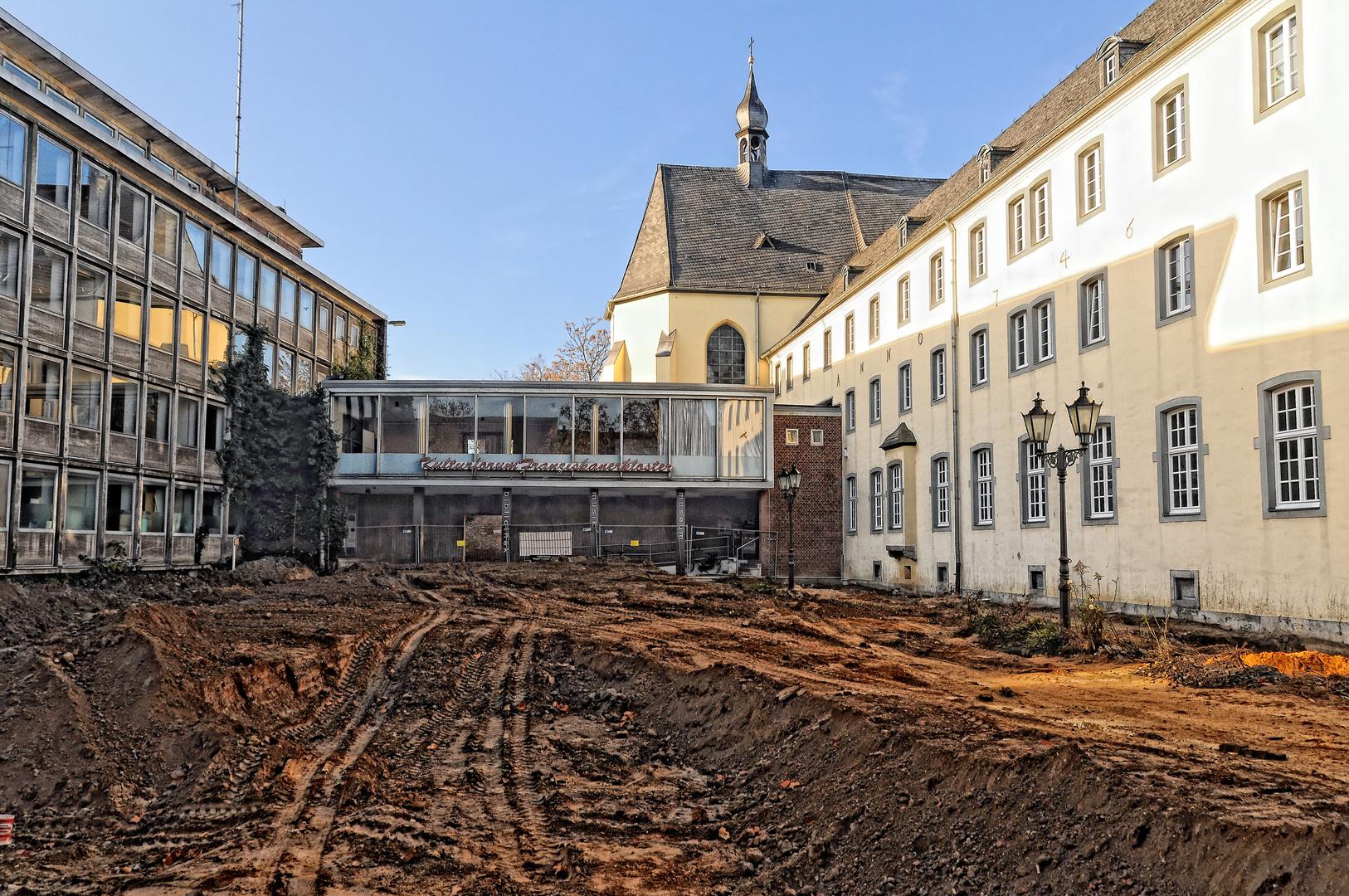 Kempen - Baustelle am Franziskanerkloster