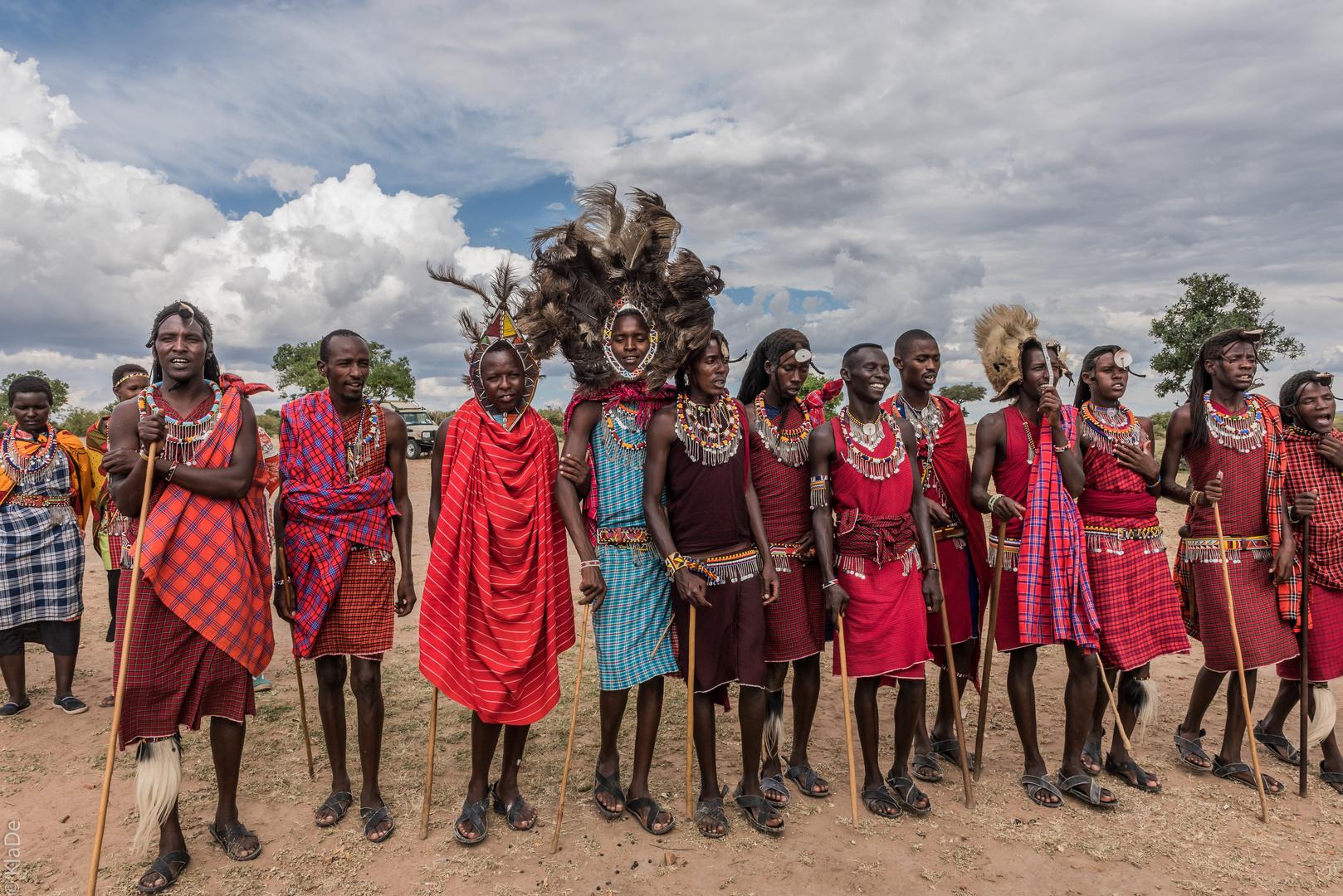 Kenia - Masai Mara - Massai - Junge Krieger