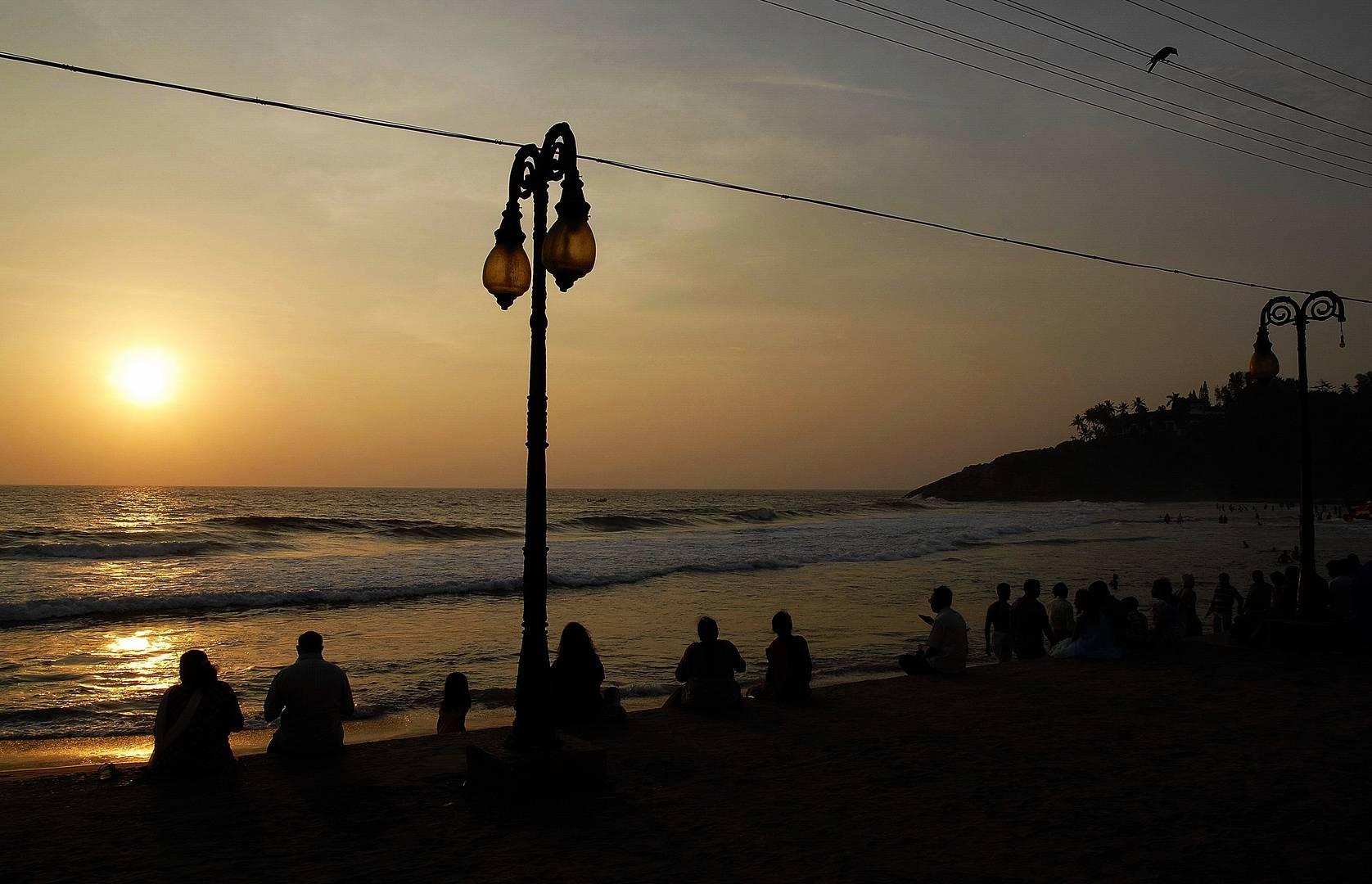 Kerala Sonnenuntergang