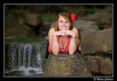 Kerstin im japanischen Garten -3-
