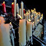 Kerzen vor der Kerzenkapelle in Kevelaer