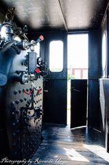 Kesselraum einer Dampflok