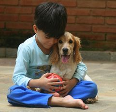 Kid and his dog