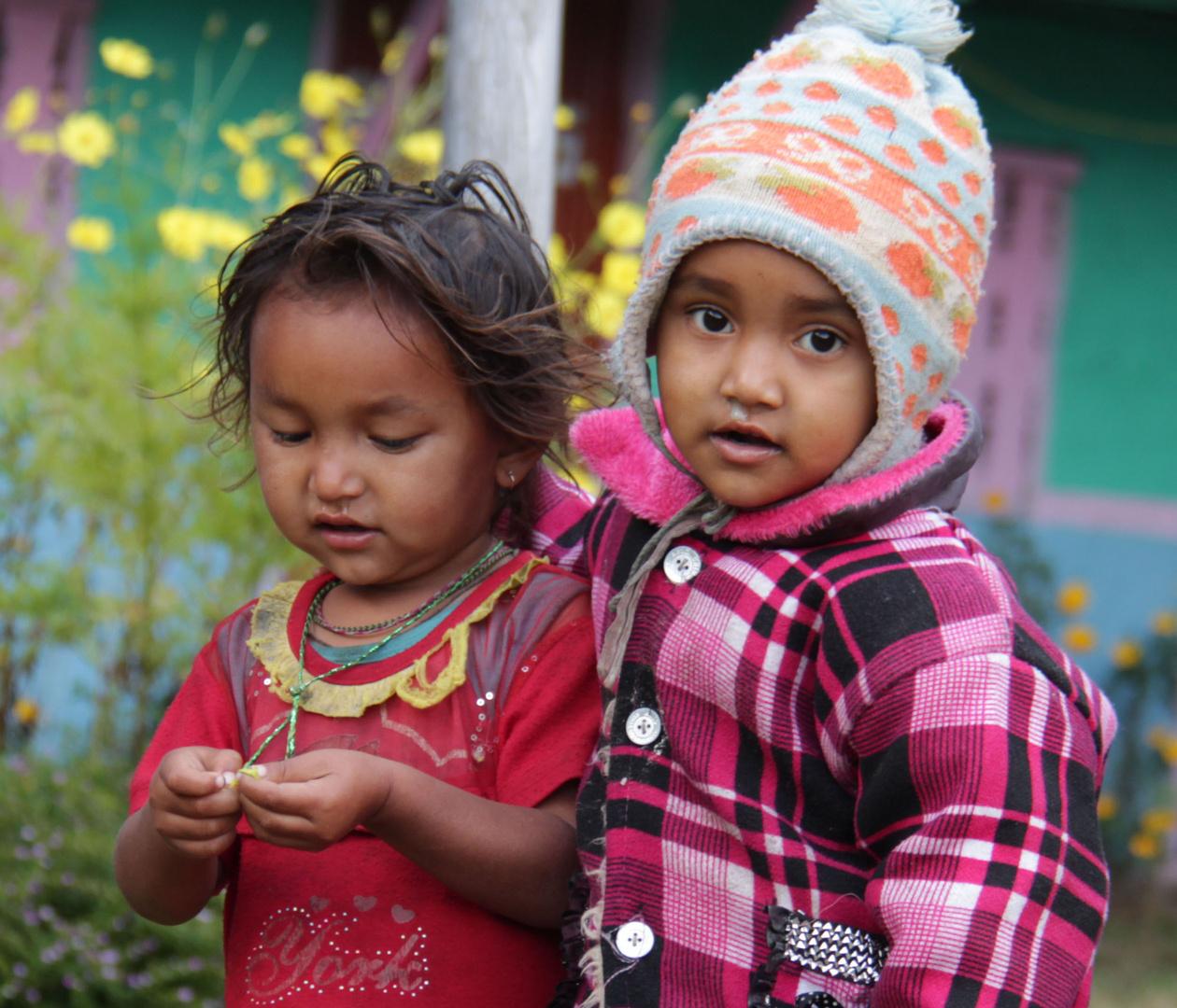 Kids in der Annapurna Region